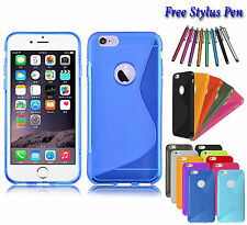 S-Line Wave Soft Silicone Slim Gel Grip TPU Case Cover Holder For Apple iPhone 6
