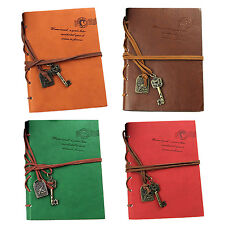 Classic Retro Leather Bound Blank Pages Journal Diary Notepad Notebook BF