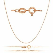 1mm Rose Gold Plated Sterling Silver Box Chain w/Spring Ring