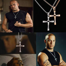 Fashion Unisex Men Stainless Steel Cross Pendant Necklace Chain Silver/Gold P