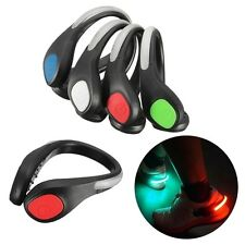 LED Luminous Shoe Clip Light Night Safety Warning Bike Cycling Running Sports