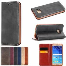 Luxury Retro Flip Leather Skin Wallet Stand Card Cover Case For Samsung Galaxy