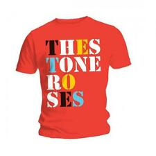 The STONE ROSES T SHIRT Font Logo Red Official Mens All Sizes Ian Brown NEW