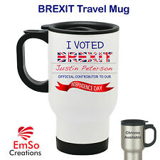 Personalised BREXIT Vote Leave EU Referendum - Voted Out Europe - Travel Mug Cup