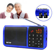 Mini Portable LCD FM Radio Hi-Fi Speaker MP3 Music Player Micro SD TF USB AUX FM