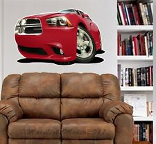 2011 Dodge Charger Cartoon WALL GRAPHIC FAT DECAL MAN CAVE ROOM MURAL PRINT 6828