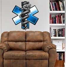 EMS EMT Star of Life Symbol WALL GRAPHIC DECAL MAN CAVE ROOM DECOR