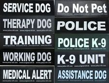 Large Velcro Patch for Julius K9 Harness Letters L-Z  NEW SERVICE DOG POLICE K-9