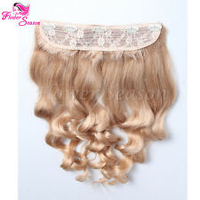Color#27 One Piece Body Wave Clip In Hair Extensions Human Hair Full Head Set