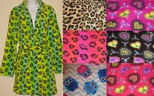 Plush Robe SUPER Comfy Womens Robe Super CUTE Plush Fleece Owls Leopard Paisley
