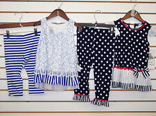 Girls Rare Edition Or Bonnie Jean 2-Pc. Outfits Size 4 - 6X