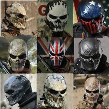 Airsoft Paintball Full Face Protection Skull Cover Mask Outdoor Tactical Gear BS