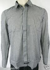 Scott Weiland The Collection By English Laundry  Black Grey Plaid 100% Cotton