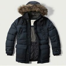 Mens Abercrombie & Fitch Quilted Hoodie Puffer Parka Coat Jacket Size S, M,