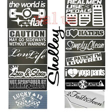 Words Phrase Sentence Pattern Car Vinyl Decal Sticker Window Wall PC 14 Styles