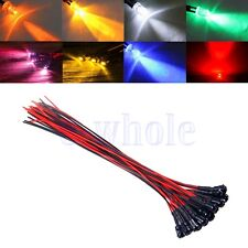 3mm colorful pre-wired 20cm LED light Lamp 12V DC with Plastic Bezel Holders EW