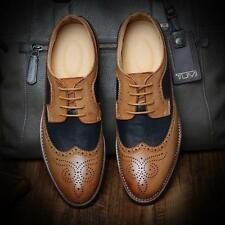 Retro Men's Wingtip Oxfords Shoes Lace Up Dress Formal Casual Brogue Pumps Shoes
