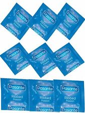48 PASANTE Ribbed Condoms, Ribbed Textured Surface improve Sexual Stimulation