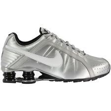 NIKE WOMEN RUNNING SHOES SHOX JUNIOR METALIC SILVER NEW 454339-018
