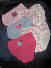 5 PAIRS GIRLS PRETTY BRIEFS KNICKERS  - AGES 5/6 - 7/8 - 11/12 YRS
