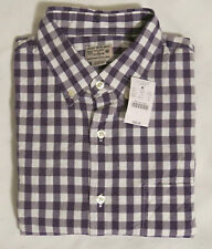 NWT J.Crew Men's Button-Down Shirt In Purple Medium Gingham Sizes XS,S,M,L,XL