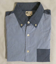 NWT J.Crew Men's Pieced Sunwashed Oxford Shirt Blue Navy Pocket Sizes XS,S