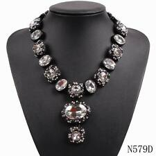 new design fashion crystal chunky statement bib choker collar luxury necklace