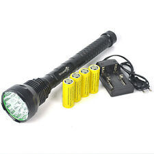 18000Lm 15*XML T6 LED Tactical Flashlight  26650/18650 Hunting Torch charger