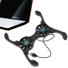 USB Foldable Folding Cool Cooler Cooling Fan Pad w/2 Fan for Laptop Notebook
