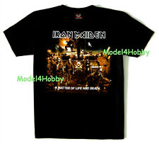 IRON MAIDEN T-Shirt Black S M L XL A MATTER OF LIFE AND DEATH HM SOLDIER SKULL