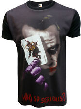 NEW WHY SO SERIOUS JOKER SUBLIMATION T SHIRT/FUNNY/BATMAN HEATH LEDGER/TOP/TEE