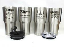 Set of 8,Personalized Stainless Steel RTIC Tumblers,Wedding Gift,