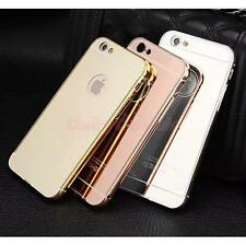 4 Colors Aluminum Ultra-thin Mirror Metal Back Case Cover for iPhone 6 6S Plus