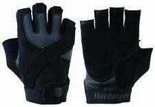 Harbinger 1260 Mens Training Grip Without Wristwrap Black Weight Lifting Gloves