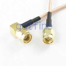 SMA male plug to SMA male plug right angle RG316 RF coxial Pigtail jumper cable