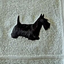 Scottie, Scottish Terrier Dog Embroidered Towels, Dog Gift, Personalise,
