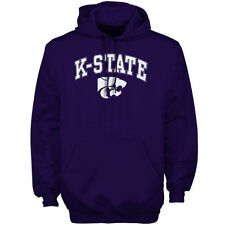 Kansas State Wildcats Purple Arch Over Logo Hoodie
