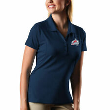 Antigua Colorado Avalanche Women's Navy Blue Pique Xtra Lite Performance Polo
