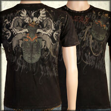 Monarchy Heraldry Shield Medieval Armor Crest Script Mens T-Shirt Black NEW S-L
