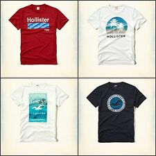 NWT Hollister Men's Logo Graphic Crew Neck T-Shirt Tee By Abercrombie A&F Size M