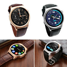 GW01 1.33'' Inch BT4.0 Smartwatch Leather Calendar For Android iPhone iOS