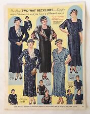 "Lane Bryant New Summer Fashions full color ""center spread"" from 1933 style book"