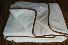Cashmere Wool Underblanket Hight Quality 100% Cashmere Lux Brown Frame ALL SIZES