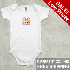 Infant Organic One Piece Shirt Short Sleeve Mouse Size 3-6 6-12 18-24 Baby Cloth