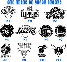 Vinyl Decal Sticker NBA Teams Wall Art Car Decor Boat Window Basketball