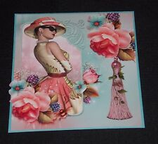 ELEGANT LADY TOPPER  FOR HANDMADE CARDS/ALBUMS.BIRTHDAY/WEDDING/MOTHERS DAY