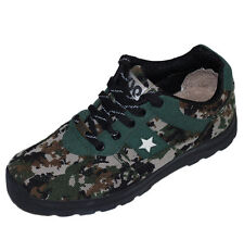 Mens Army Breathable Lace up Running Shoes Camouflage Casual Jungle Outdoor New