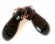 SELECT A SIZE Black Leather slippers Indian sandals Online shoes Leather sandals