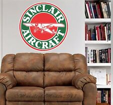 Sinclair Aircraft Vintage Gas Repro WALL GRAPHIC DECAL MAN CAVE ROOM MURAL
