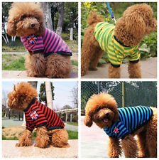 Pet Puppy Summer Shirt Small Dog Cat Pet Clothes Costume Apparel Polo T-Shirt